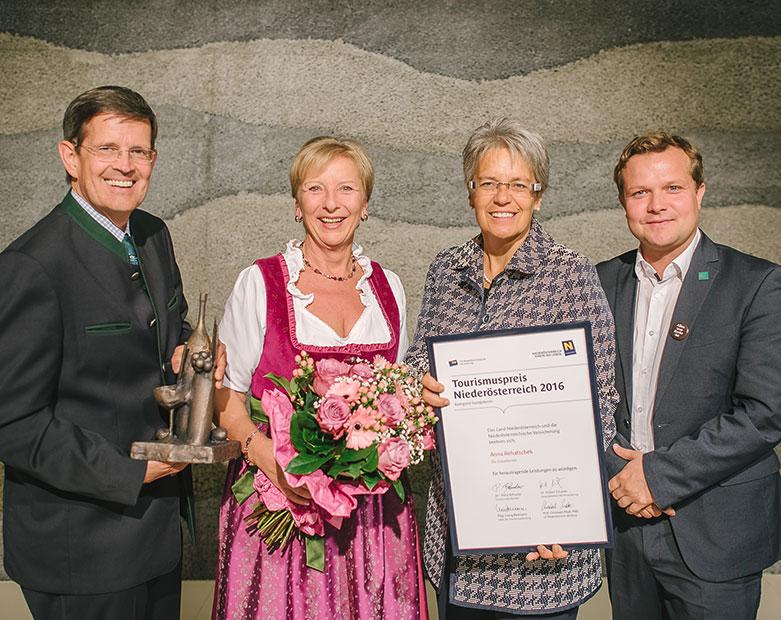 Anna Rehatschek erhält NÖ Tourismuspreis 2016